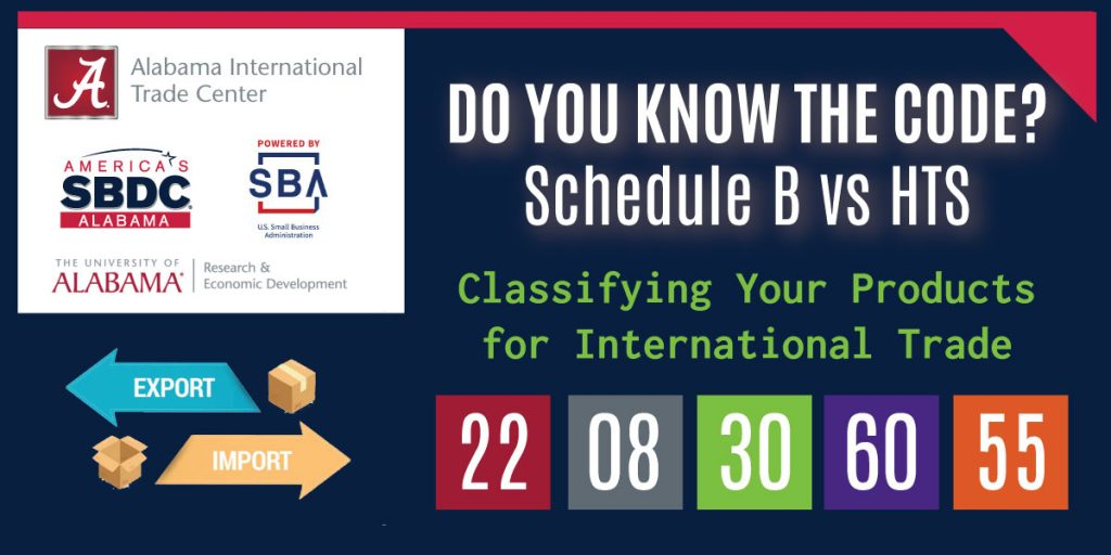 Classification Webinar: Schedule B and HTS